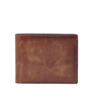 Mens bi fold wallet fossil