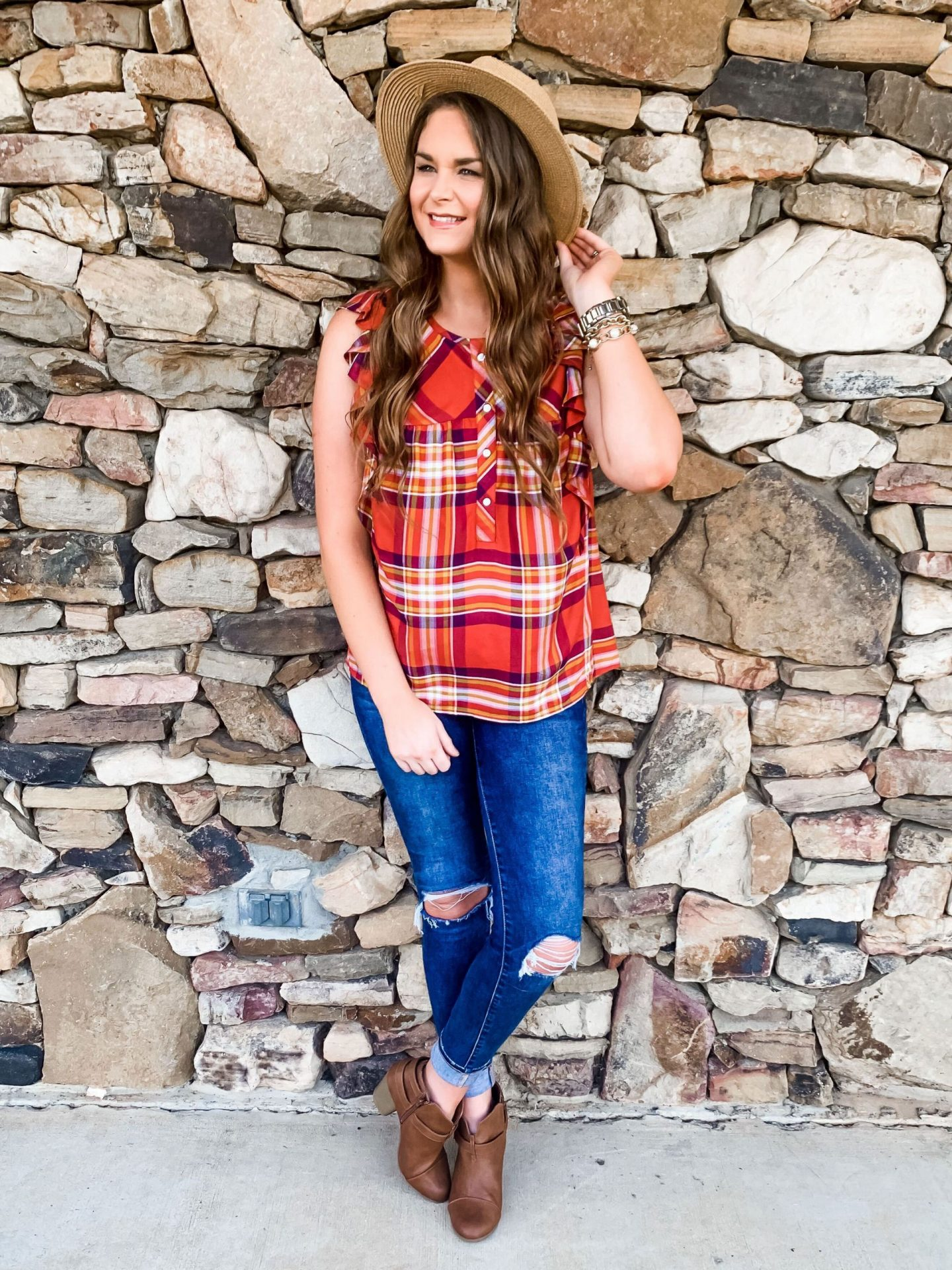 18 Ways to Style a Plaid Top for Fall - Time and Tru Walmart